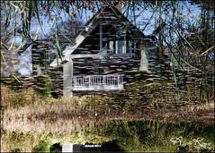 Flipped... (angelakanner) Tags: canon70d tamron18400 longhousereserve longisland water reflection house