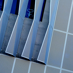 urban pleats II (msdonnalee) Tags: architecturaldetail architecturalabstract architecture abstractreality blue bleu 青blauأزرقbleuazzurroazul