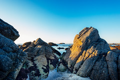 Asilomar Beach, Pacific Grove, California. Just before sunset. (amy buxton) Tags: amybuxrto pacificgrove california northerncalifornia rocks water ocean sea beach sand pacificocean pacific landscape seascape