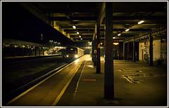 Ghost Train (david.hayes77) Tags: exeter exetercentral devon southwest westofengland night dmu pacer class143 143618 sprinter class150 150265 2019 autumn ghosttrain eerie atmosphere dark afterdark 5e57 2e57 gwr greatwesternrailway