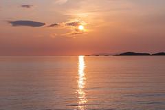 Father Sun (TheNovaScotian1991) Tags: pukaskwanationalpark ontario canada northernontario lakesuperior greatlakes nikond7100 nikkor55300mmf4556gedvr beautiful sunset water orb clouds pink ripples