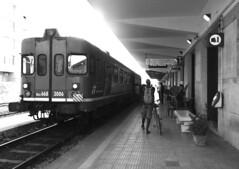 Stazione (paola.verdoliva) Tags: stazioni stazione treno trapani treni mezzi biancoenero