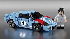 Ford GT40 Mk. II #1 Shelby American (liz_dewitt) Tags: ldd lego blender mecabricks car 6wide ford