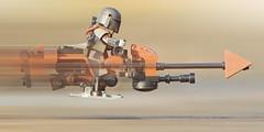 LEGO Mandalorian on Speeder Bike (weeLEGOman) Tags: lego star wars mandalorian mandalore speeder bike motion blur disney minifigure toy macro photography uk nikon d7100 105mm robert rob trevissmith weelegoman
