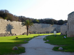 Medieval Moat and Rhodes City Walls (luckypenguin) Tags: greece aegean dodecanese rhodes rodos unesco worldheritagesite citywalls fortifications moat