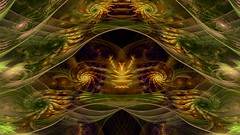 golden and green world (dolcekyoko) Tags: wallpapers wallpaper fractal fractals