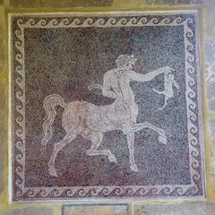 Mosaic in the Archeological Museum, Rhodes (luckypenguin) Tags: greece aegean dodecanese rhodes rodos unesco worldheritagesite archeologicalmuseum museum mosaic