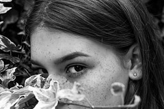 IVY (emileighwade) Tags: portrait black white beautiful beauty eyes photography nikon depth