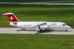 HB-IXT (PlanePixNase) Tags: aircraft airport planespotting haj eddv hannover langenhagen swiss british aerospace avro rj85