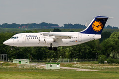 D-AVRH (PlanePixNase) Tags: aircraft airport planespotting haj eddv hannover langenhagen british aerospace avro rj85 cityline lufthansa