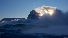 IMGP4277 Sunrise (Claudio e Lucia Images around the world) Tags: alpedisiusi valgardena dolomiti alpe di siusi val gardena snow winter mountains adler lodge ortisei sassolungo sassopiatto sky christ cross pentax pentaxk3ii pentaxcamera pentaxlens pentaxart cold unesco pentax18135 gröden sciliar clouds tree sella sellagroup snowstorm sunrise woods