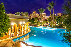 dinner starts soon (werner boehm *) Tags: wernerboehm egypt resort pool restaurant