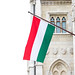Hungarian flag on Hungarian parliament