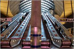 Canary Wharf Underground (Mabacam) Tags: 2019 london docklands canarywharf station undergroundstation publictransport architecture escalators