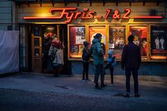 Uppsala, November 2, 2019 (Ulf Bodin) Tags: kväll uppsala sverige streetphotography alltljuspåuppsala nightphotography canonrf85mmf12lusm fyrisbiografen night sweden outdoor fyris12 canoneosr biograf urbanlife uppsalalän