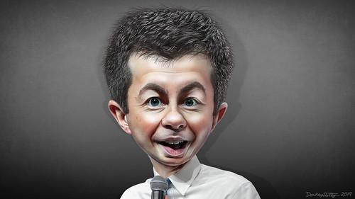 Pete Buttigieg - Caricature