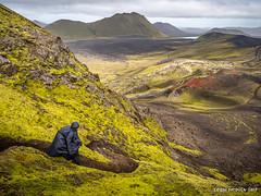 Hiking in Landmannalaugar (Fern nebula) Tags: bleu iceland landmannalaugar landscape islande nature paysage couleur randonnée olympus