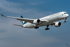 Cathay Pacific - Airbus A350-1041 / B-LXD @ Manila (Miguel Cenon) Tags: cx cxa350 cathaypacific cathay cathaypacifica350 cathaya350 rpll airbus airbusa350 a350 airplane airplanespotting apegroup appgroup airport ppsg planespotting philippines manila nikon naia d3300 rollsroyce rrtrent xwb trentxwb sky fly flying wings twinengine widebody widebodyjet plane clouds window wing twin airbusa35k airbusa3501000 a35k a3501000 blxd