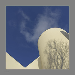 Angles & Cloud, Colour (Michael Fleischer) Tags: building blue sky cloud shadow texture shape tamron sp 35mm f14 di usd nikon d810 square format