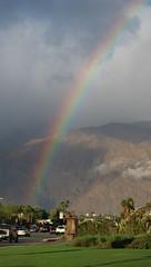 November 20, 2019 (365 Gay #3-089) (gaymay) Tags: california desert gay love palmsprings riversidecounty coachellavalley sonorandesert rainbow clouds rain 365gay