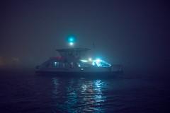 Foggy Ferry (Roderick van der Steen) Tags: cold fog f14 novoflex reflections ferry nightphotography photography amsterdam zf2 milvus1450 zeiss sonyalpha a7s