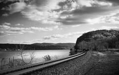 The Hudson River near Marlboro (visible-spectrum) Tags: olympus35sprangefinder ilfordfp4 hudsonvalley water