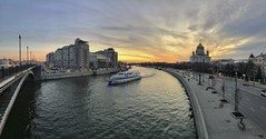 Moscow Cruise (gubanov77) Tags: sunset landscape city cityscape urban street streetscape moscow russia river cruise moscowphotography moskvariver mobile mobilephotography panorama architecture bolshoykamennybridge skyline bersenevskayaembankment prechistenskayaembankment houseontheembankment theaterestrady театрэстрады домнанабережной travelphotography travel yakimanka goldenhour khamovniki