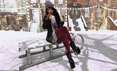 #WinterMood (Lazy Days SL) Tags: nomatch gizseorn secondlife avatar izzies realevilindustries reign equal10 amariaamore winter snow cold cherishville