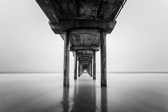 Scripps Pier (MbopPhotos) Tags: scripps pier la jolla san diego california water ocean sea beach blackandwhite long exposure