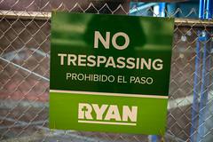 No Trespassing Sign (chaddavis.photography) Tags: asa construction notrespassing notrespassingsign prohibidoelpaso ryan ryandevelopment sign trespass