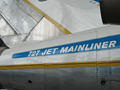 UA 727-22 N7001U (kenjet) Tags: united ua ual unitedairlines museum seattle museumofflight boeing 727 72722 7001 1 1st n7001u tail plane jet aviation transportation vintage airline airliner flugzeug mainliner