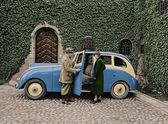 The Venus Volvo (1933) (frankmh) Tags: car prototype venusvolvo volvo sweden colorization