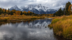 Drama In The Sky (chasingthelight10) Tags: events photography travel landscapes forests foliage mountains meadows rivers snowscenes places wyoming grandtetonnationalpark schwabacherlanding oxbowbend willowflats snakeriver