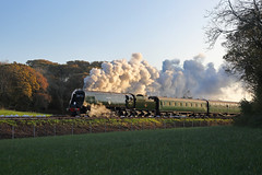 Swanage Sunrise (Treflyn) Tags: sun sunrise pacific britain horizon battle class 462 bulleid photo cross events railway steam timeline swanage tle charter harmans 34072 257squadron