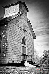 This Old Church (1300 Photography) Tags: fujifilm xt30 23mm14 affinity affinityphoto luminar4 church blackwhite blackandwhite smalltown missouri theozarks stoutland
