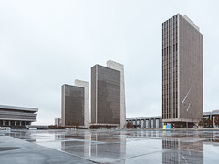 Agency Buildings 1, 2, and 3 (jonathan_percy) Tags: agencybuildings newyorkstatemuseum albany agency2 empirestateplaza gfx50r agency3 governornelsonarockefellerempirestateplaza newyork agency1 2019 culturaleducationcenter fujifilm ny usa