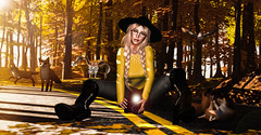 Can this moment last Forever? (Puppy Gena) Tags: secondlife sl maitreya lara catwa nour jian halfdeer focusposes aviglam glamaffair glasses magika nerido mossu blueberry fall leaves photography