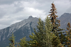 Trees, Mountains, Clouds (JB by the Sea) Tags: canmore alberta canada september2019 rockies rockymountains canadianrockies policemanscreek policemancreek