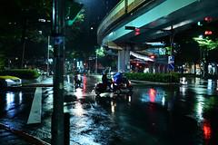 Rainy Night in Taipei (hidesax) Tags: rainynightintaipei taipei taiwan 台湾 night cityscape nightscape street rainynight hidesax nikon z6 sigma 35mm f14
