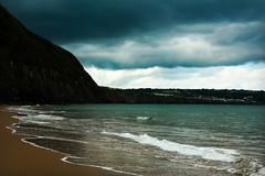 Black and blue (Jess Roberts7) Tags: black blue sea seascape cliffs beach sand seaside wales westcoast penbryn ceredigion canon nature sky