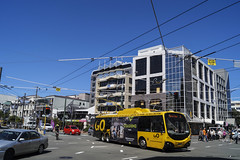Courtenay Place & Taranaki Street - Wellington (andrewsurgenor) Tags: trolleybuses trolleybus trolleycoach trolebús trolejbusowy trolleybuswellington trolejbus obus filobus trackless gowellington nzbus