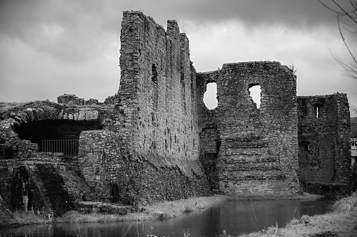 Trim Castle ruins in B&W - Trim County Meath Ireland