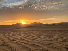 Desert sunset (Huacachina - Ica) (v.bastos22) Tags: huacachina peru sand outdoor desert day sunset iphone pordosol sol areia deserto