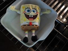 SpongeBob SquarePan (LeftCoastKenny) Tags: utata ironphotographer kitchen appliance oven toy doll utata:project=ip293 utata:description=hide weird angle