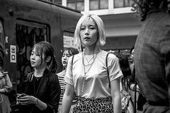 Tokyo 2019 (burnt dirt) Tags: asian japan tokyo shibuya station streetphotography documentary candid portrait fujifilm xt3 bw blackandwhite laugh smile cute sexy latina young girl woman japanese korean thai dress skirt shorts jeans jacket leather pants boots heels stilettos bra stockings tights yogapants leggings couple lovers friends longhair shorthair ponytail cellphone glasses sunglasses blonde brunette redhead tattoo model train bus busstation metro city town downtown sidewalk pretty beautiful selfie fashion harajuku sweater people person costume cosplay
