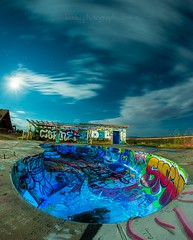 Swim To the Moon, Climb Through the Tide (Ken Lee Photography) Tags: swimmingpool urbanexploration urbex desert night lightpainting longexposure nightscaper abandoned twoguns arizona astrophotography protomachines