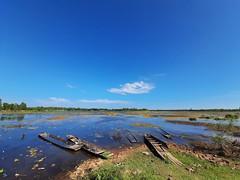 Nong Wai scenes - หนองหวาย 7 (SierraSunrise) Tags: thailand phonphisai nongkhai esarn isaan nanang boats pond swamp reservoir nong