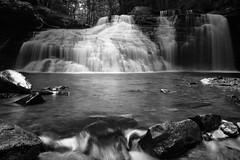 Freedom Falls, Kennerdell, PA (tomcanon68) Tags: canon40d canon bw blackandwhite monochrome waterfall freedomfalls water rocks