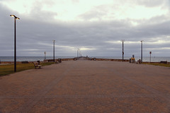 Glenelg Pier  on   10-11-2019_ (lindsayholley) Tags: glenelg south australia pier water ocean lights bricks path pole cloud sky nikon d850 28300mm