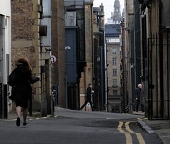 A lane near the centre of Glasgow, much used for wedding photography, we were told by a passer-by who was curious why we, or anybody else, found this view interesting. It does have a certain d'ye no ken. (Allan Rostron) Tags: